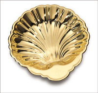 "Brass Baptismal Shell 3"""