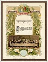 Vintage Confirmation Certificate