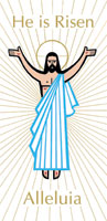 He is Risen Easter Banner 3' x 6'