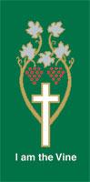 I Am the Vine Green Banner 3' x 6'