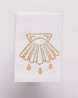 Baptismal Napkin with Silk-Screened Shell