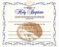 Baptismal Certificate - Adult  (Pkg of 12)
