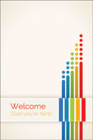 Welcome Folder: Welcome Glad You're Here (Pack of 12)