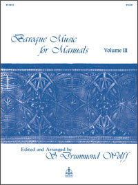 Baroque Music for Manuals, Vol. III