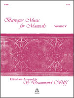 Baroque Music for Manuals, Vol. V
