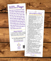 Mission Grants Bookmark 2017-2019 (Pack of 50)