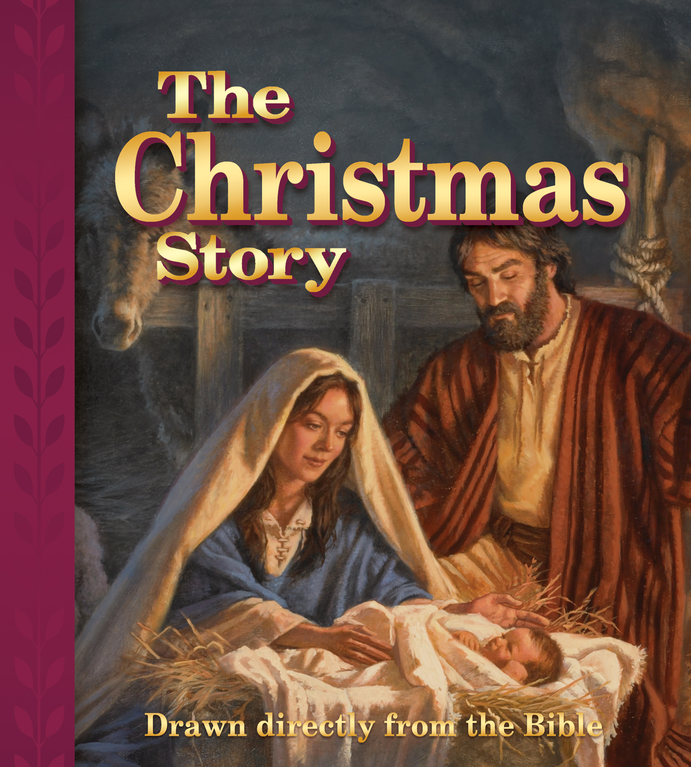 Bible Christmas Story.The Christmas Story Drawn Directly From The Bible