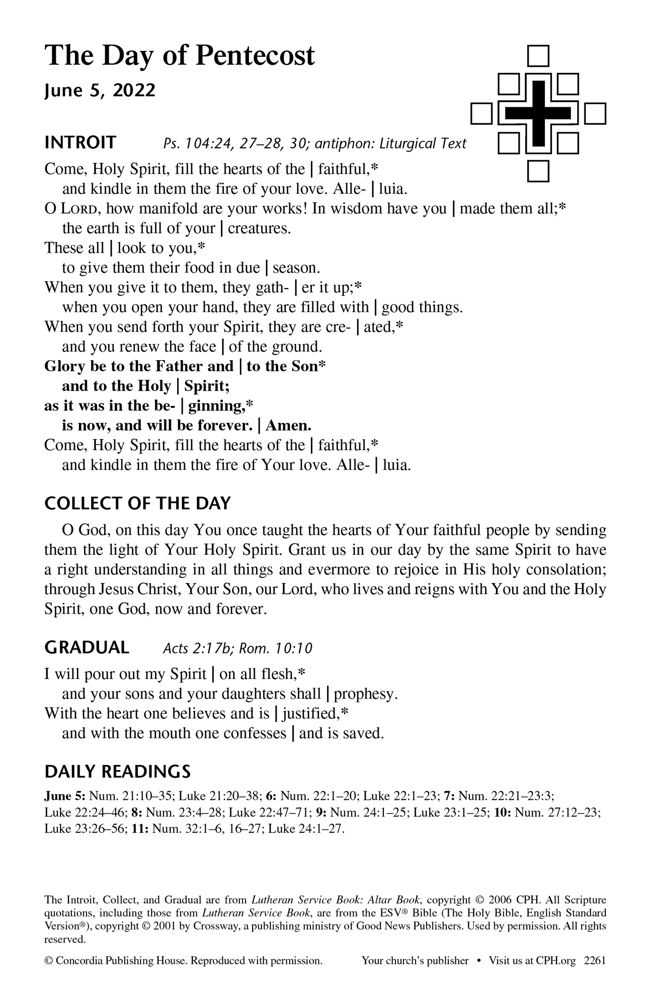 3-Year Lectionary Propers – Quarter 3 Bulletin Insert
