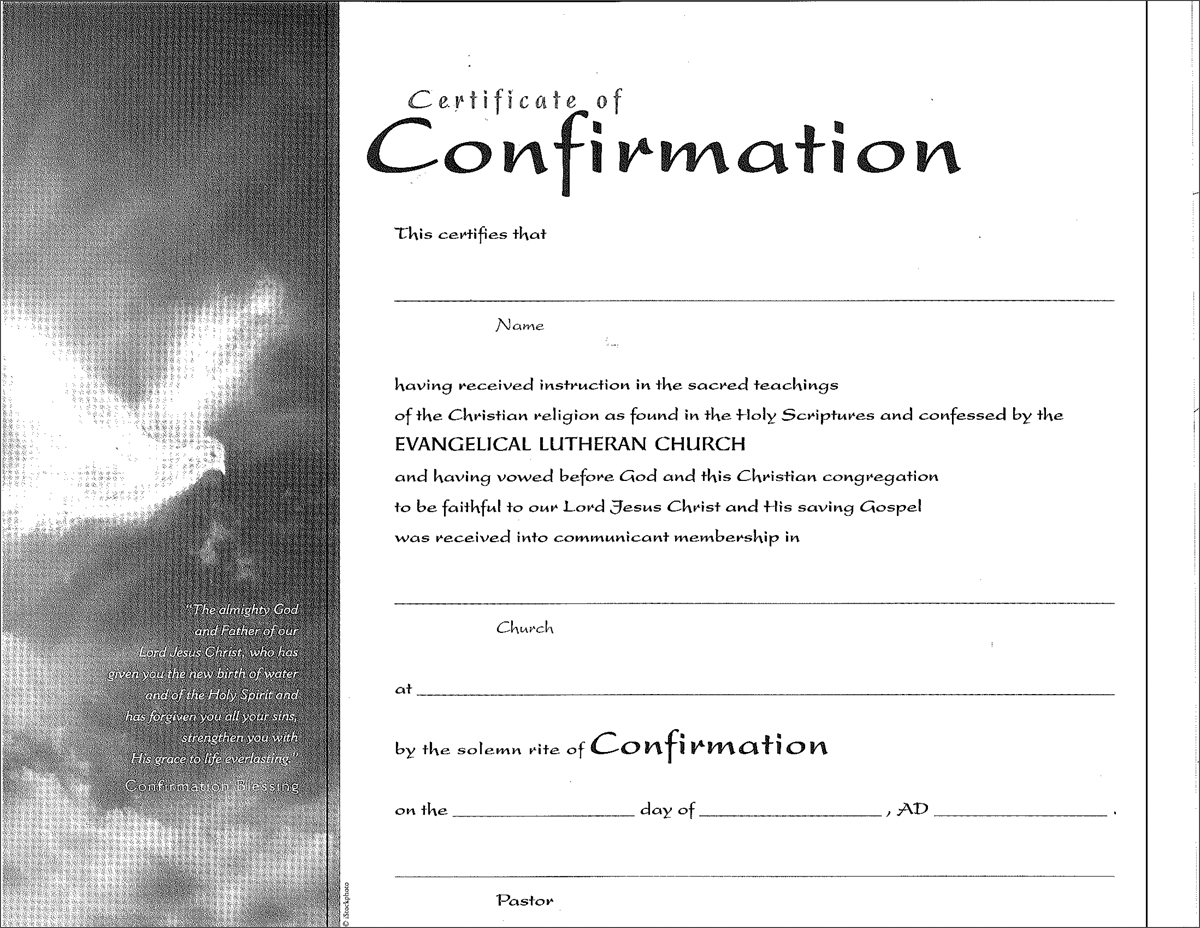 Lsb Confirmation Certificate Customizable