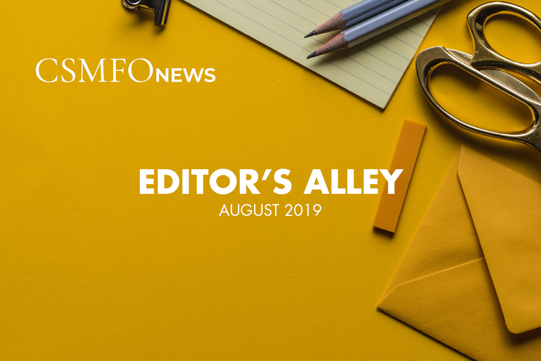 Editor's Alley | August 2019