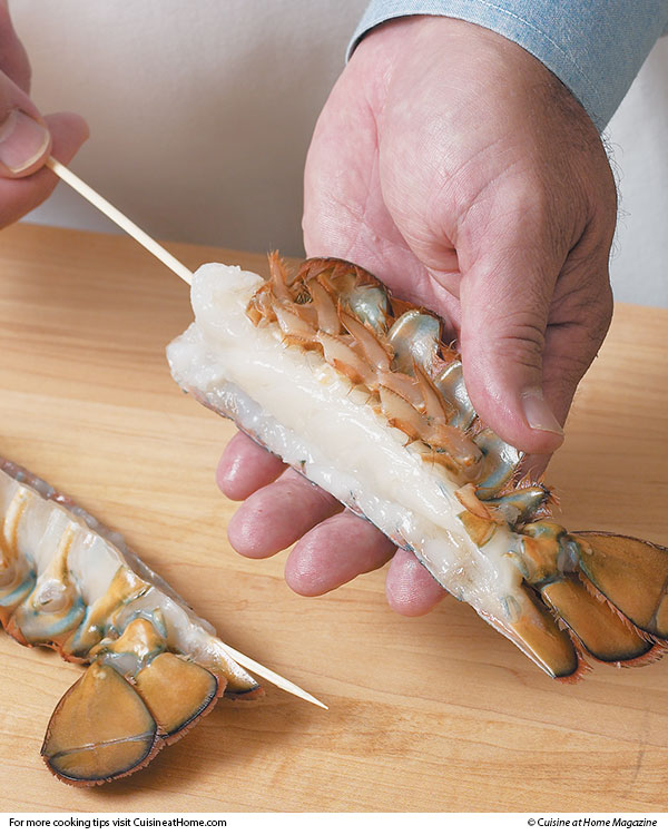 how to get meat out of lobster tail