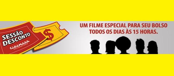50% OFF no Cinemark - Todos os dias às 15h!
