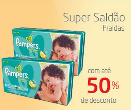 Super Saldão de Fraldas: até 50% de desconto!