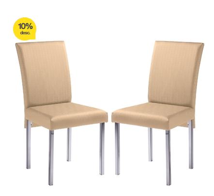 Cadeira Ca120 2 Peças Cromado/Pérola Brastubo!