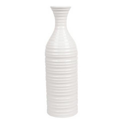 Vaso Abele Listrado Branco 35x10,5cm