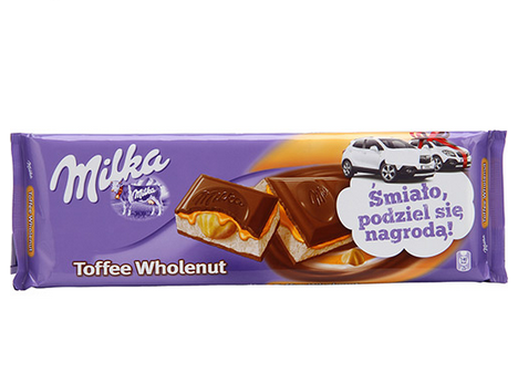 Chocolate Milka Toffe Wholenut 300g!