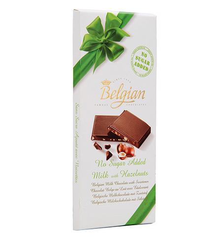 Chocolate Belgian Milk Sem Adição de Açúcar + Hazelnuts 100g!