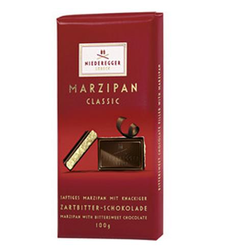 Barra Clássica de Chocolate Puro Recheado com Marzipan 100g - Niederegger Lubeck!