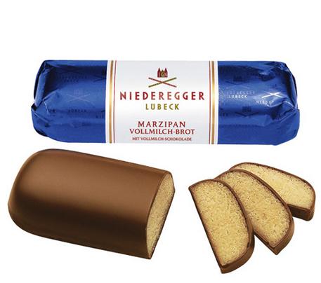 Baguete de Marzipan coberto com Chocolate Ao Leite 125g - Niederegger Lubeck!