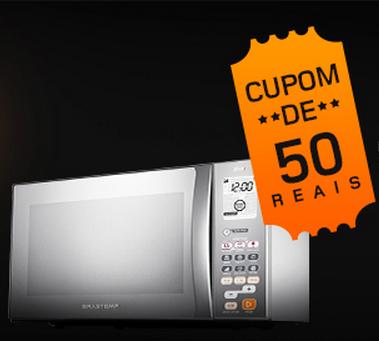 Cupom de R$50 de desconto em Micro-ondas e produtos acima de R$699!