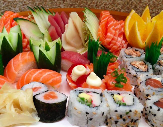Rodízio Japonês completo + Sobremesa