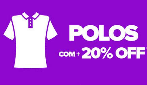 Cupom de 20% de desconto extra em Camisas Polos!