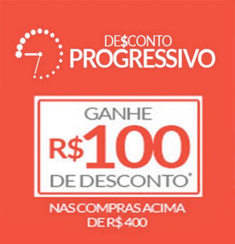 Cupom de R$100 de desconto nas compras acima de R$400!