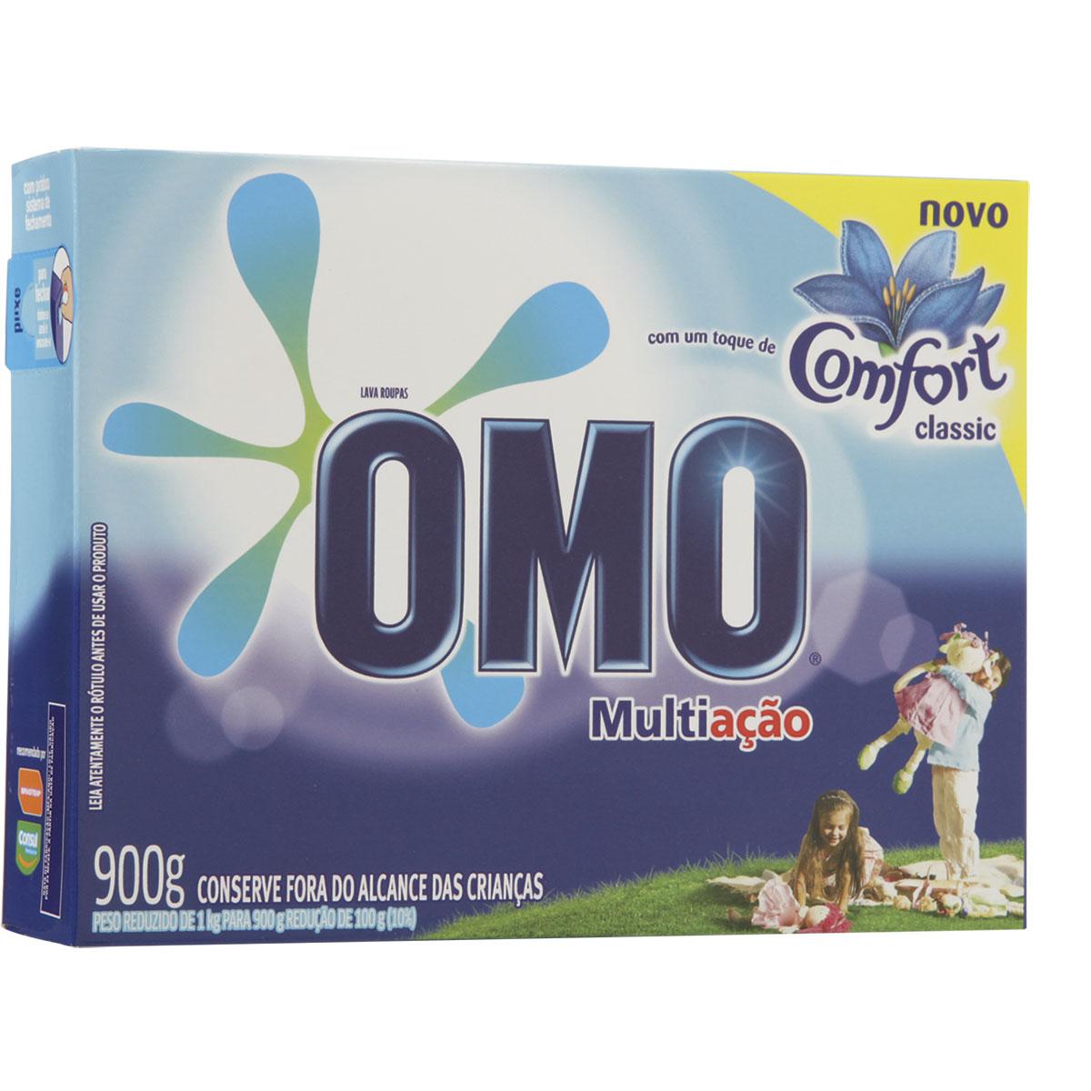 Delivery 30% Off: Sabão em Pó Omo Multi Ação com Toque de Comfort Caixa 900G -Vários tipos