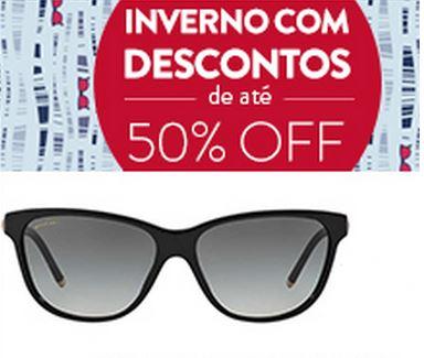 Inverno com descontos de até 50% em Óculos!