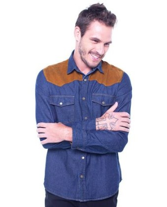 Camisa Regular Denim WESTERN PALA COLOR