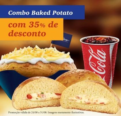 Combo Baked Potato (batata + bebida + pão) com 35% de desconto!