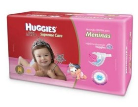 Fralda Huggies Turma da Mônica Supreme Care Meninas Tam M – 80 Unidades!
