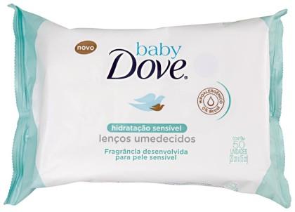 30% de desconto: Lenços Umedecidos Baby DOVE Hidratação Pacote com 50 Unidades!
