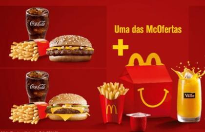 McOferta Média Clássica + McLanche Feliz por R$34,00