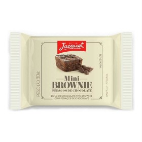 30% Off: Mini Bolo de Chocolate Tipo Browine c/ Pedaços de Chocolate ou Avelã JACQUET 30g!