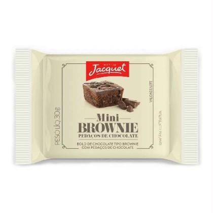 30% Off: Mini Bolo de Chocolate Tipo Browine c/ Pedaços de Chocolate ou Avelã JACQUET 30g!
