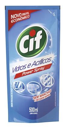 30% de desconto: Limpador para Vidros CIF Ultra Rápido Doy Refil 500ml!