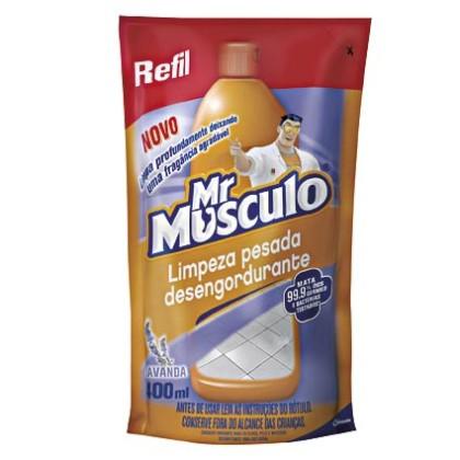 30% OFF: Limpador para Limpeza Pesada Mr MUSCULO Lavanda Refil 400ml!