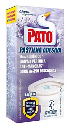 30% OFF: Desodorizador de Sanitário PATO Pastilha Adesiva com 3 Unidades!