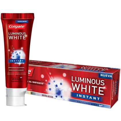 30% de desconto: Creme Dental COLGATE Luminous White Instant 90g!