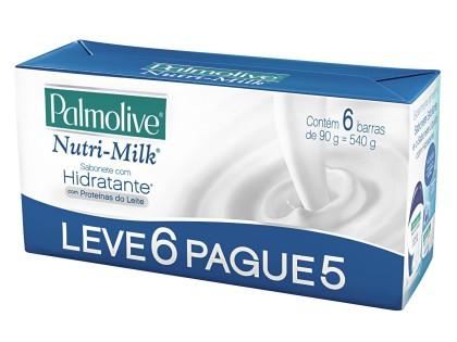 30% de desconto: Sabonete PALMOLIVE Nutri-Milk com Hidratante 90g Leve6 Pague5!