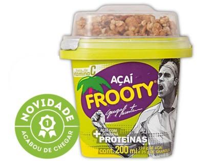 20% de desconto: Açaí FROOTY Guga Kuerten Proteína com Granola Pote 200ml!