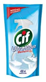 30% de desconto: Limpador para Banheiro CIF Ultra Rápido Doy Refil 450ml!