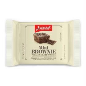30%: Mini Bolo de Chocolate Tipo Browine c/ Pedaços de Chocolate ou Avelã JACQUET 30G!