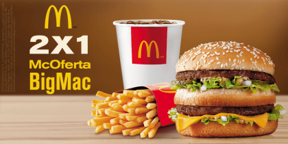 McOferta Big Mac 2×1: Pague 1 e leve 2
