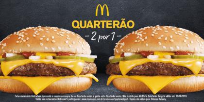 Quarterão 2×1: Pague 1 e leve 2!