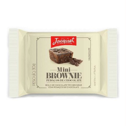 30% OFF: Mini Bolo de Chocolate Tipo Brownie Chocolate ou Avelã JACQUET 30g!