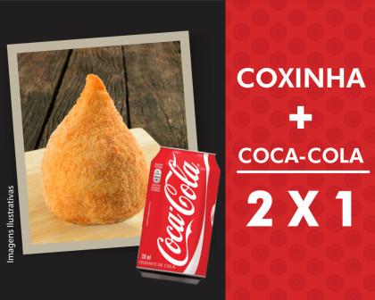 Coxinha + Coca-Cola – Leve 2 e Pague 1