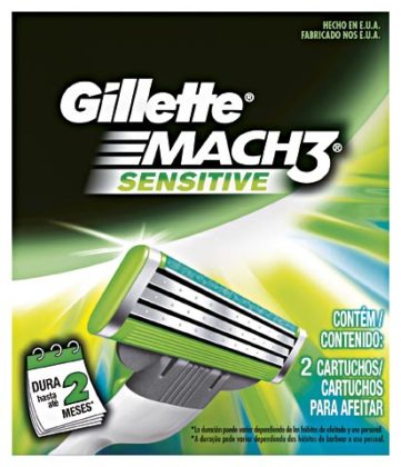 50% OFF: Carga GILLETTE Mach 3 Sensitive com 2 Unidades!