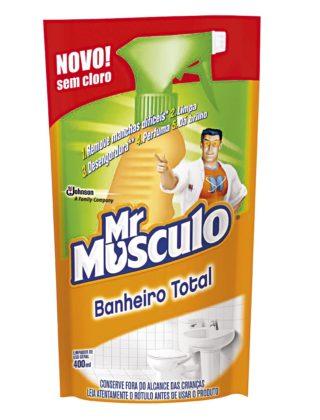 30% OFF: Limpador para Banheiro 5 em 1 Mr MUSCULO Refil 400ml!
